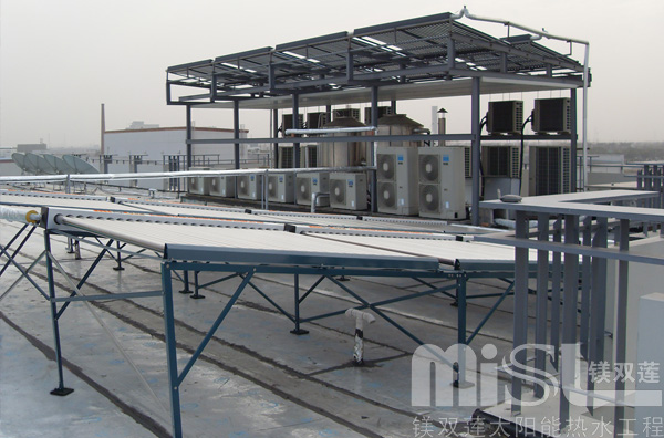 太阳能热水器厂家工程图片