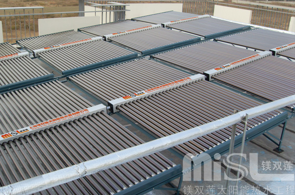 品牌太阳能热水器厂家工程图片